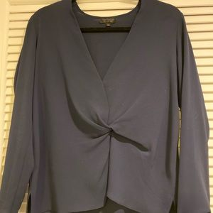 Navy top shop blouse